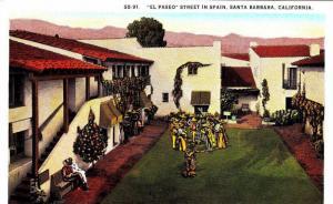El Paseo Street in Spain,Santa Barbara,California,00-10s