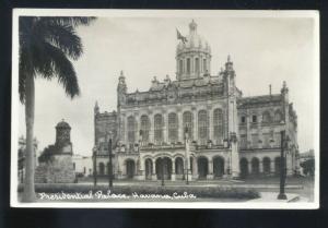 RPPC HAVANA CUBA HABANA PRESIDENTIAL PALACE VINTAGE REAL PHOTO POSTCARD