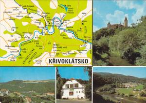 Czechoslovakia Krivolatsko Multi View With Map