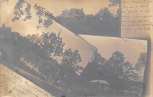 Manchester Iowa~US Fish Hatchery~Main Building~Supt Cottage~Arbor~1907 RPPC