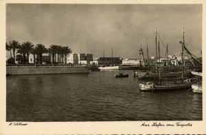 libya, TRIPOLIS TRIPOLI, Harbour Scene (1940s) H. Schlösser Photo