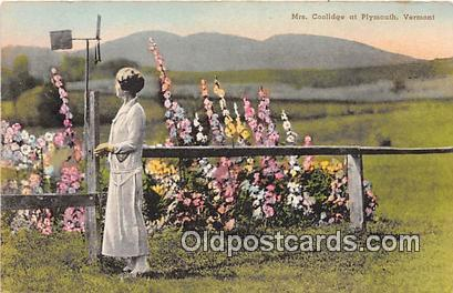 Plymouth, VT, USA Mrs. Coolidge