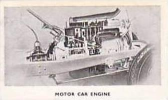 Rothman Vintage Cigarette Card Modern Inventions 1935 No 46 Motor Car Engine