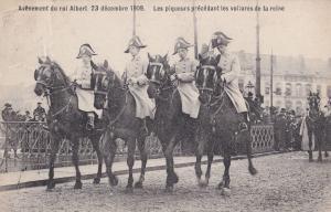 Avenement Du Albert 1909 Le Roi Place Royale King Postcard