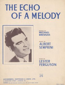 The Echo Of A Melody Lester Ferguson 1950s Sheet Music
