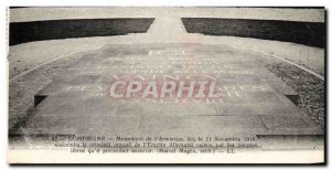 Old Postcard Compiegne Monument From & # 39Armistice Army