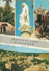 Israel Nazareth greetings multiview Postcard
