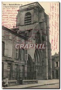 Postcard Old Saint Dizier The church Notre Dame