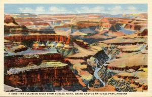 AZ - Grand Canyon National Park.  Colorado River from Mohave Point (Fred Harvey)