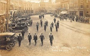 Bellows Falls VT Co E Mexico Storefronts Old Cars RPPC Postcard