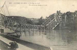Creil France~War of 1914~WWI Destructed Bridge at Creil~Le Pont de Creil 1915
