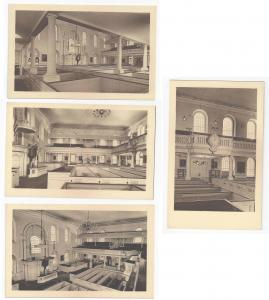 Boston Old South Meeting House Interiors Meriden Gravure Collotype 4 postcards