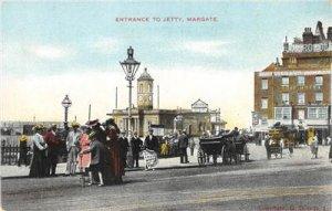Jetty Entrance, Margate, Metropole Hotel Thanet, Kent, England ca 1910s Postcard