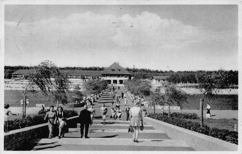 Poland Gliwice Gleiwitz Waldbad 1942 Postcard