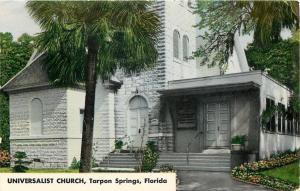 Tarpon Springs Florida~Universalist Church Close Up~1969 Postcard