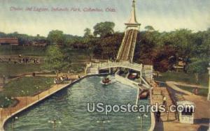 Chutes & Lagoon, Indianola Park Columbus OH Writing on back