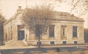 Webster City Iowa~Corner Entrance to Beaux Arts Post Office c1910 RPPC Postcard