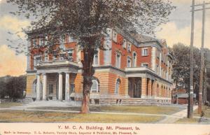Mt Pleasant Iowa~YMCA~Stone Foundation~Four Big Columns~Arch Windows c1907