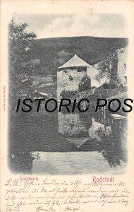 RADSTADT SALZBURG AUSTRIA~TEICHTHURM~SABIN & EHRINGER 1900 RELIEF PHOTO POSTCARD