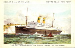 T S S Rotterdam Holland-America Line Rotterdam-New York