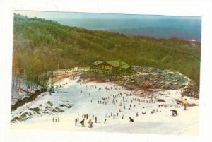 Skiers on the Slopes of Mount Harrison, Ski Lodge in Background, Gatlinburg, ...