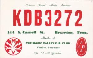 KDB 3272 FRank M Grimble Camden Tennessee