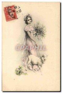 Old Postcard Fantaisie Mouton
