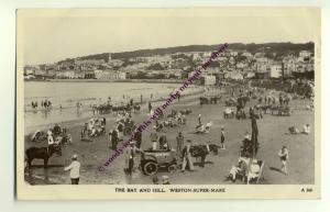tp1576 - Bay & Sands , Weston-Super-Mare , Somerset - postcard
