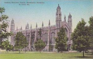 Missouri St Louis Graham Memorial Hall Court Washington University Handcolore...