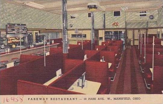 Ohio Mansfield Parkway Restaurant Curteich 1953
