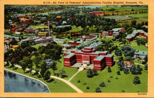 Virginia Hampton Aerial View Of Veterans Administration Facility Hospital 195...