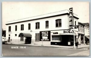 Boonville MO~Holt's Cafe~ART DECO~Beauty Shop~Greyhound Bus Station~1940s RPPC