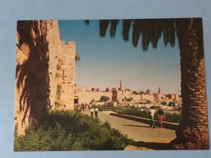 Vintage Jerusalem – view of the Jaffa Gate and the Citadel