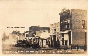 BUFFALO, WYOMING 'PART OF BUSSINESS (SP)  SECTION RPPC REAL PHOTO POSTCARD