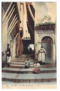 La Rue du Chameau ca 1910 Algiers L.L. Vintage Postcard