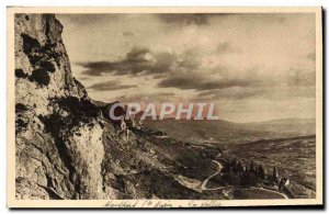 Postcard Old Moustiers Sainte Marie The valley