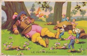 Fable of Le Petit Poucet, Children try to wake up snoozing giant, Ida, 10-20s