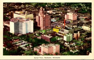 Minnesota Rochester Aerial View World Medical Center 1967