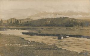 Cranbrook BC~Marysville Range~Winding St Mary's River~Boxes~Real Photo~1915 RPPC