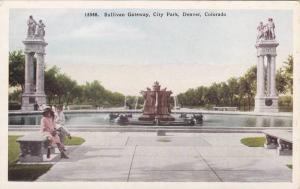 The dolphin fountain,Thatcher monument,Sullivan Gateway, City Park, Denver, C...