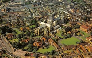 Vintage Kent Postcard, Canterbury Cathedral, Aerial View FH5