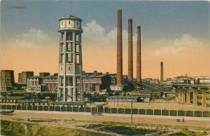AK Lauta Lautawerk Wasserturm Industrie Allemagne Fabrik