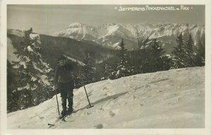 Austria Postcard Semmering ski tourist mountain view winter sport