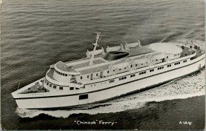 Vtg RPPC 1951 Chinook Ferry Seattle, WA