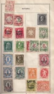 Bavaria Belgium Stamp Album Page Collection