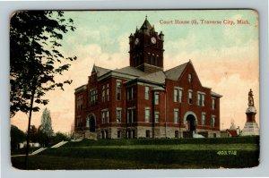 Traverse City MI-Michigan, Courthouse, Vintage c1913 Postcard