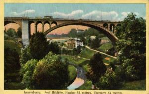 CPA Luxembourg Pont Adolphe (30665)