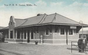 MIFFLIN , Pennsylvania, PU-1915; New Railroad Station