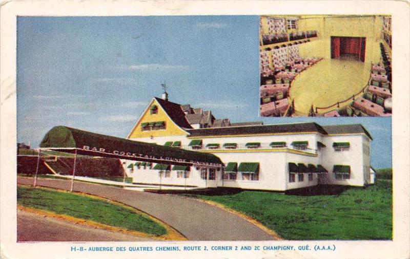 Quebec   Champigny      Auberge Des Quatres Chemins Chateau Nancy