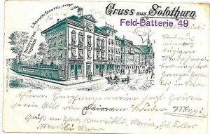 Ansichtskarten Schweiz VINTAGE POSTCARD: SWITZERLAND - GRUSS AUS: Solothurn